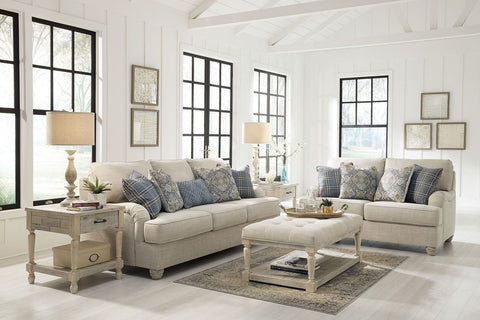 Treamore Linen Sofa and Loveseat