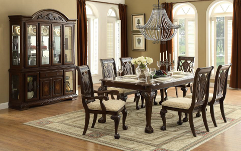Find Homelegance Norwich Warm Cherry Table and 4 Side Chairs at Marlo Furniture