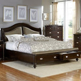 Find Homelegance Furniture Marston Dark Cherry Queen Bed at Marlo Furniture