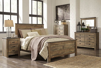 Trinell - Brown King Bed w/ Dresser, Mirror & Nightstand