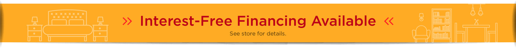 Interest-free financing available