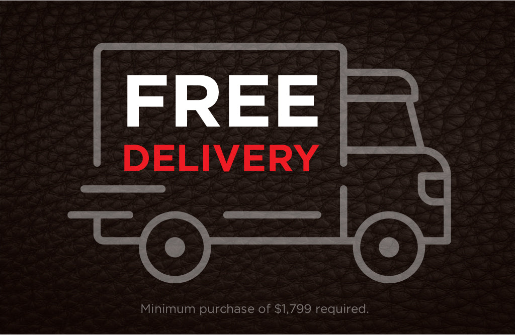 Free delivery with purchase of $1,199  and up