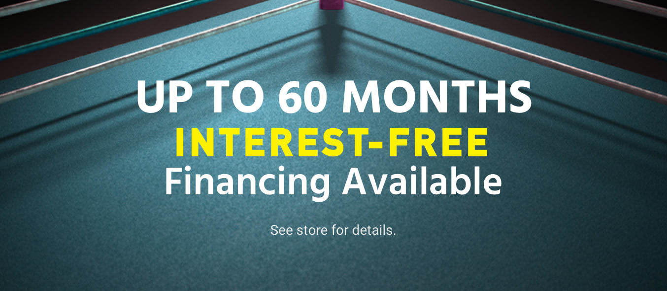Interest free financing available in store