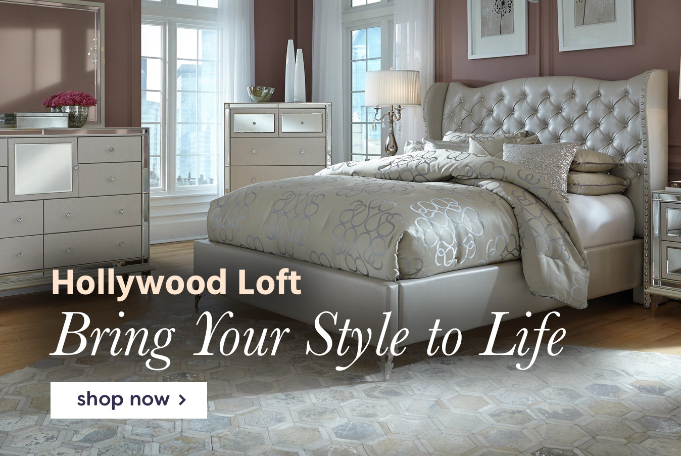hollywood loft bedroom collection