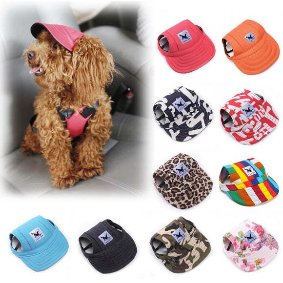 Adjustable Dog Sport Cap with Ear Holes
