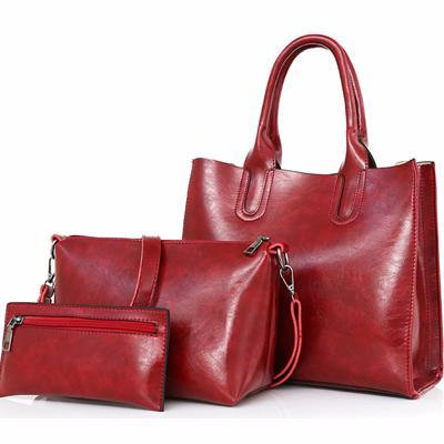3 Pcs/Set Leather Handbags