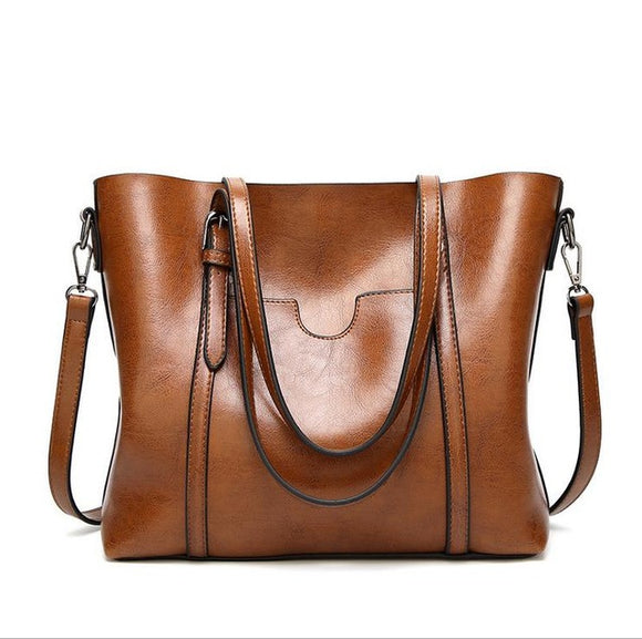 Luxury Leather Handbag (variety colors)