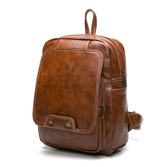 Vintage Backpack (Black and Brown)