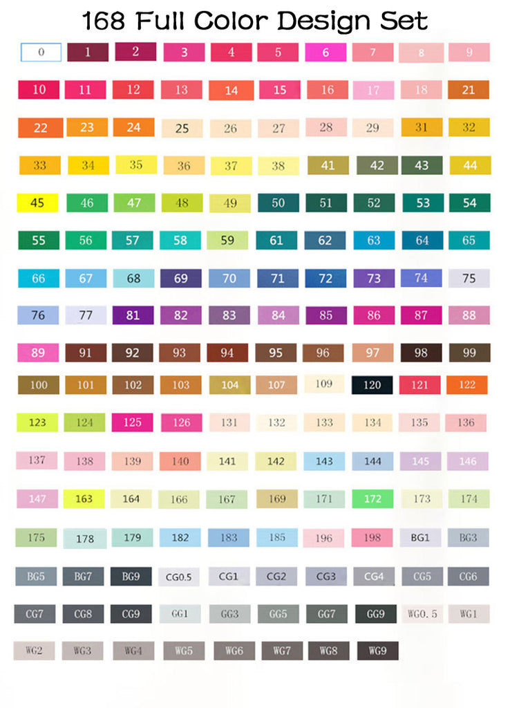 Touch Five Markers Color Chart – TouchFive