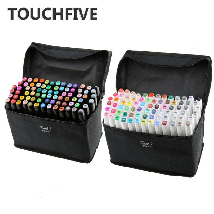 TouchFive Markers 80 Colors Broad Fine Sketch Pen Animation Set