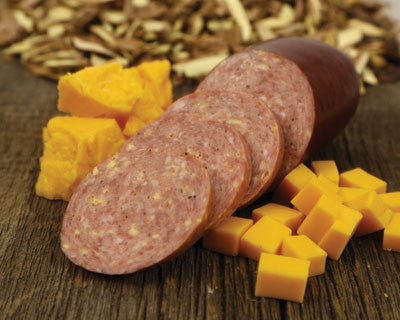 Cheddar Cheese Hickory Beef Sausage - Refrigerated