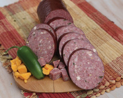 Jalapeño Cheese Hickory Beef Sausage - Refrigerated