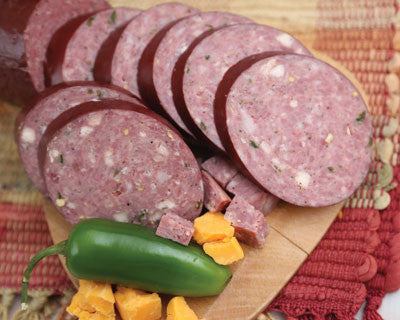 Jalapeño Cheese Vension Sausage - Refrigerated