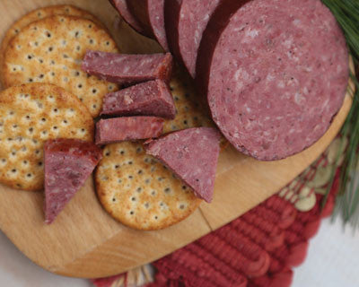 Hot Venison Sausage - Refrigerated