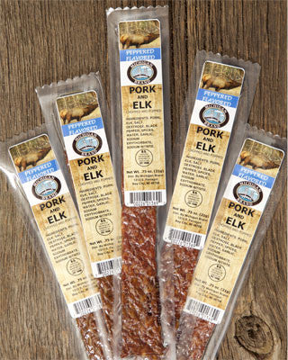 Peppered Elk Extruded Flat Exotic Jerky