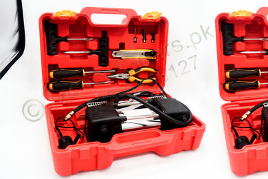 Air Compressor + Puncture Tool Kit with Box