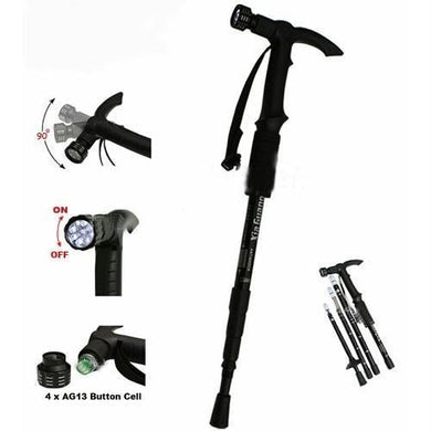 T-handle Trekking / Hiking Stick with Torch