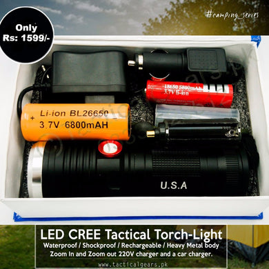 Strong LED CREE Tactical Torch-Light ( 500 Meters clear Range )