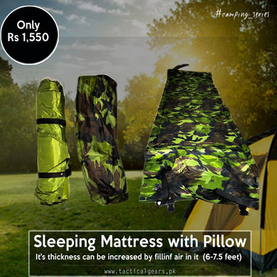 Foldable sleeping Mattress with Pillow ( High Quality )