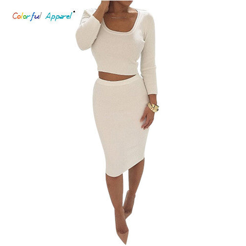 2 Piece Set Long Sleeve party Dress