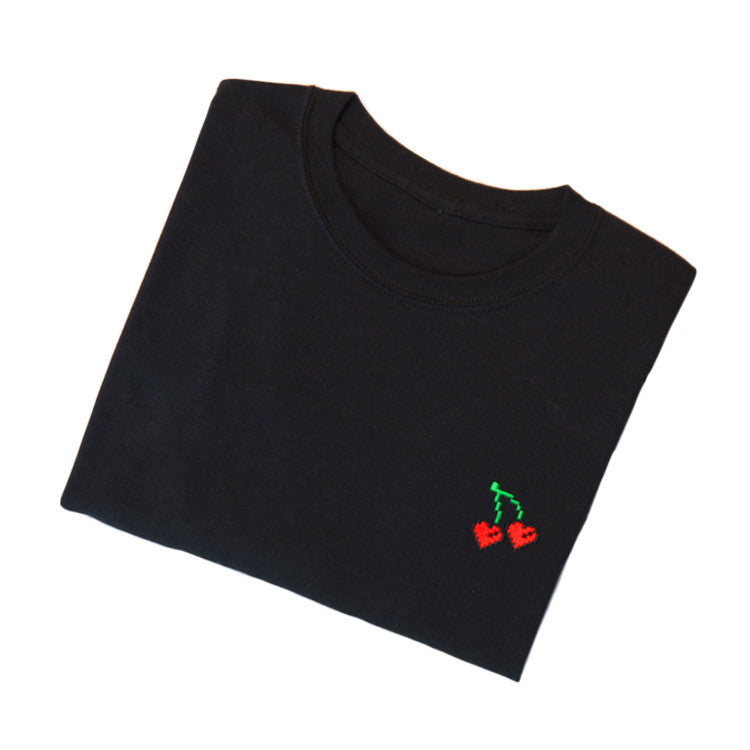 'Black Cherry' Black Tee Shirt