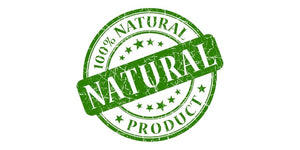 100% natural product stamp
