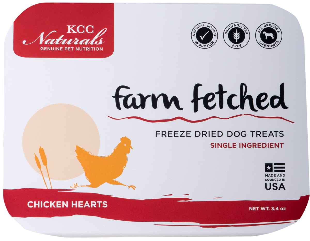 KCC Naturals | Farm Fetched freeze dried chicken hearts for dogs