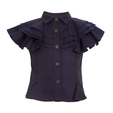 Liliah Blouse True Navy 6YRS Sample