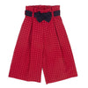 Woven Sailor Bottoms Red Jacquard 6YRS Sample