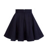 Tailored Circle Skirt True Navy