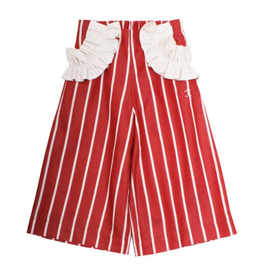 Frill Pocket Trousers Auburn Stripe 6YRS SAMPLE