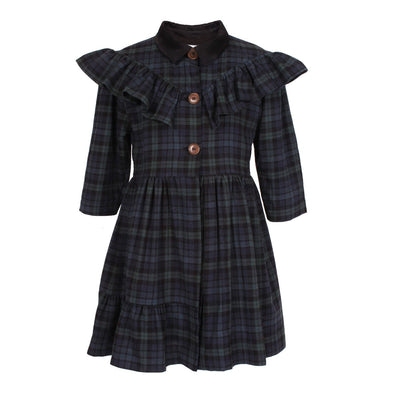 Rosie Dress Green Tartan 6YRS Sample
