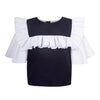 Frill Sailor Blouse True Navy