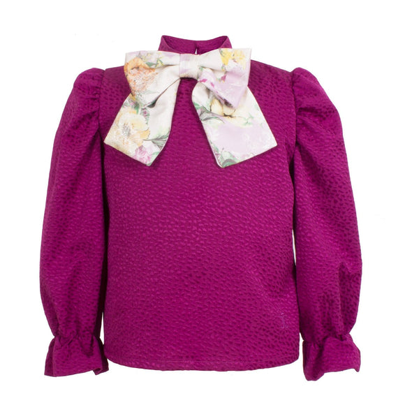 Willow Blouse Fuchsia Jacquard 6YRS Sample
