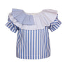 Layering Blouse Skye Blue Stripes