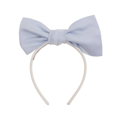 Origami Bow Headband Powder Blue