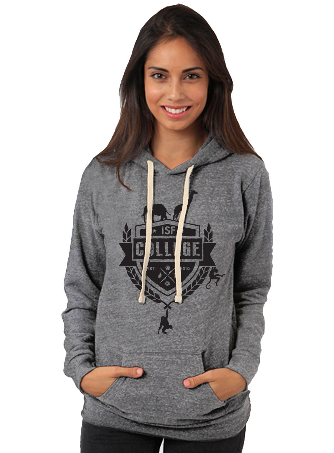 ISF College Unisex Grey Vintage Pullover