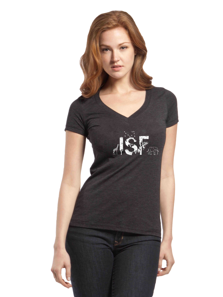 ISF Animal Triblend Ladies' V-Neck