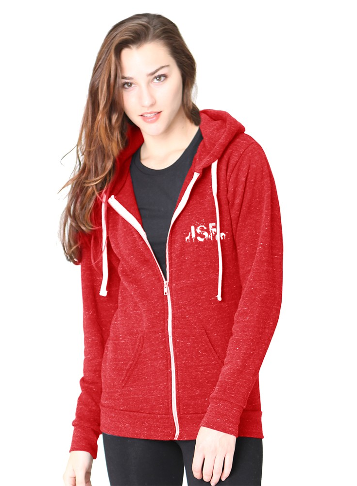 ISF Animal Zip Hoodie - Red