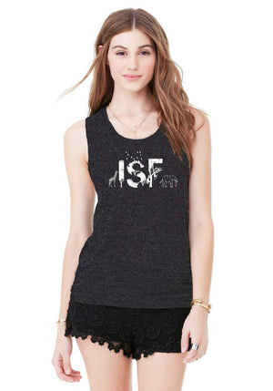 ISF Unisex Charcoal Triblend Animal Tank