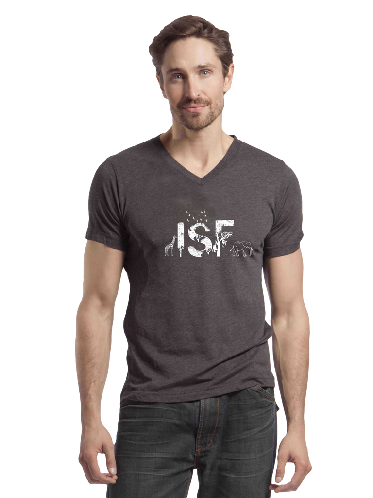 ISF animal triblend v-neck
