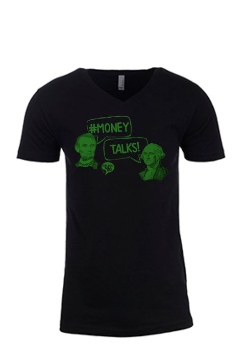 Money Talks Men's Vneck Tee
