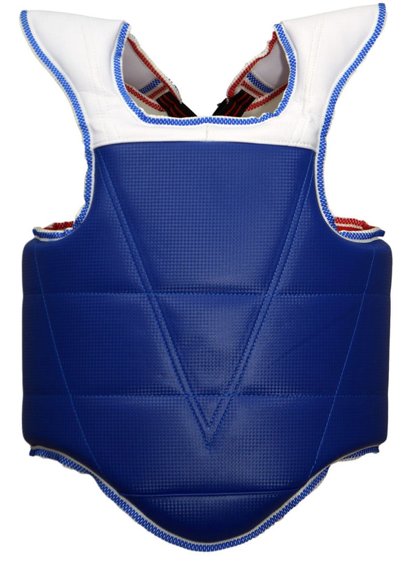 CHEST PROTECTOR BLUE/RED W/SPOTTED