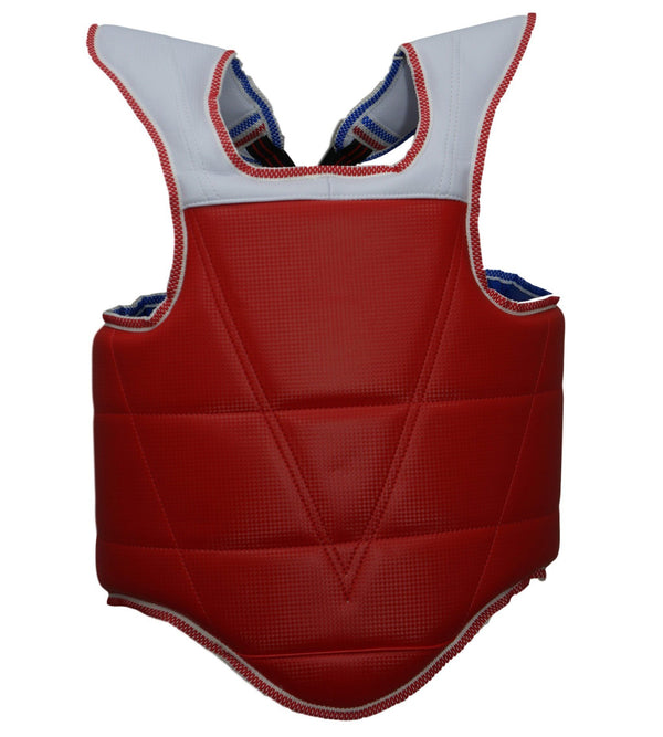 WTF CHEST PROTECTOR BLUE/RED REVERSIBLE