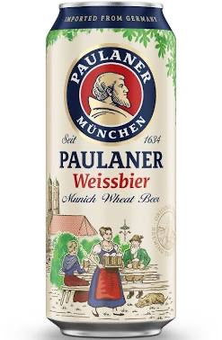 Paulaner Brewery - Hefe Weisse (Wheat Beer) 440ml can