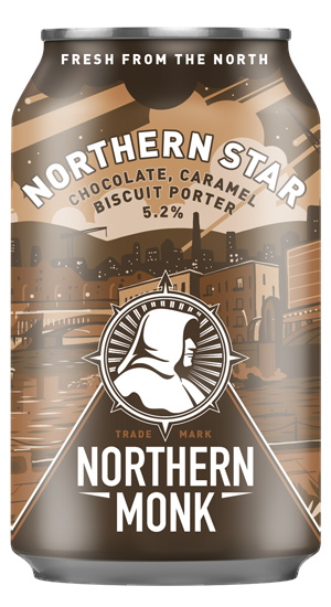 Northern Monk- Northern Star (Chocolate, Caramel and Biscuit Porter) 330ml can. 5.2%