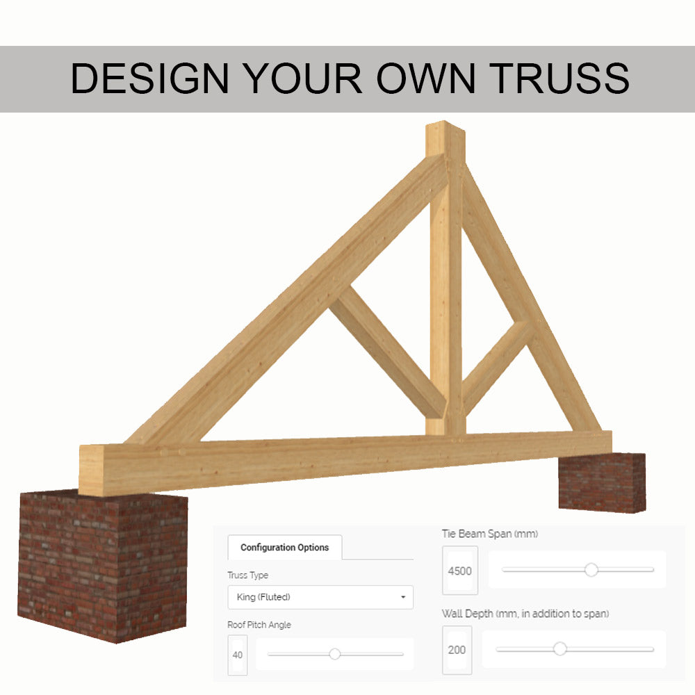 Design your own oak roof truss oak beams and frames direct for Order trusses online
