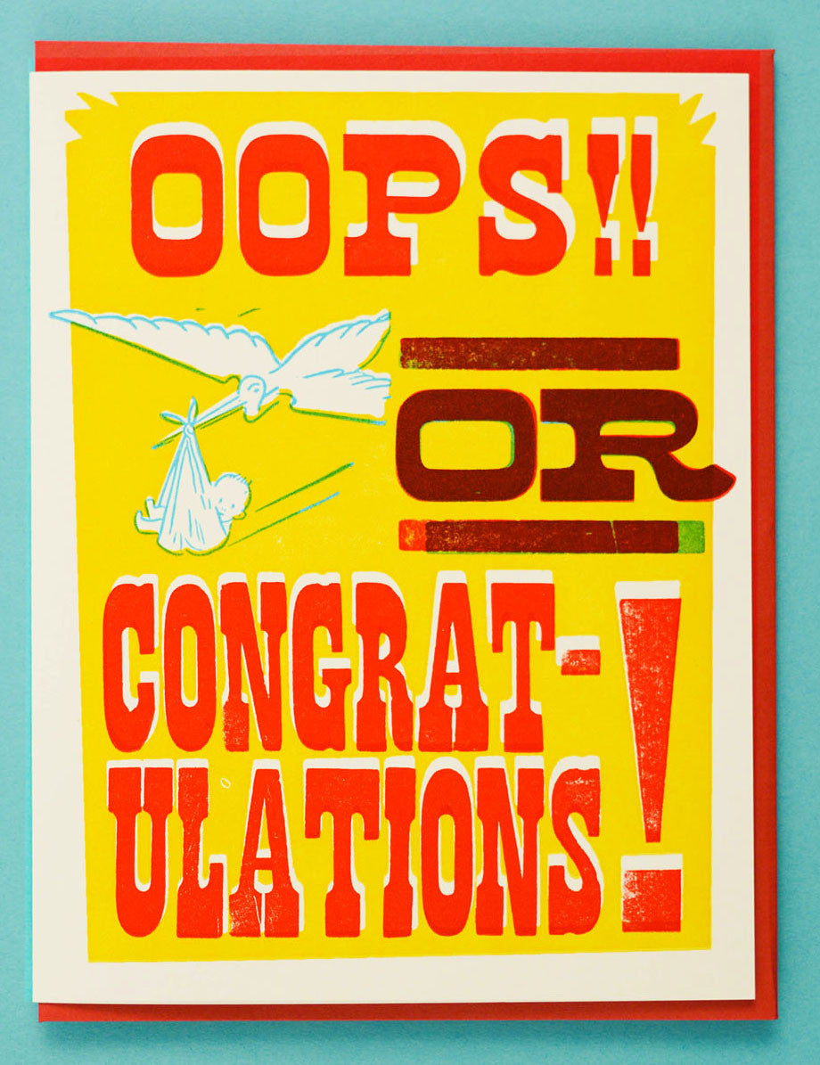 Oops! Or Congratulations