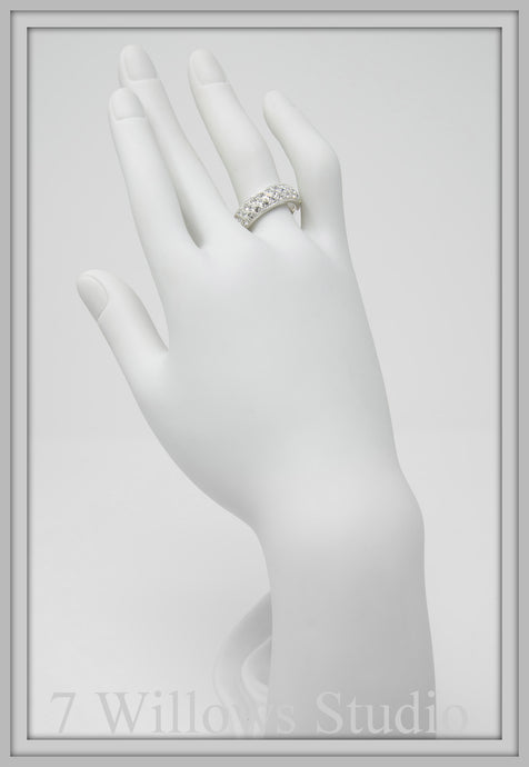 Crystal White Band Ring