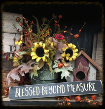 "Router Sign ""Blessed Beyond Measure"""